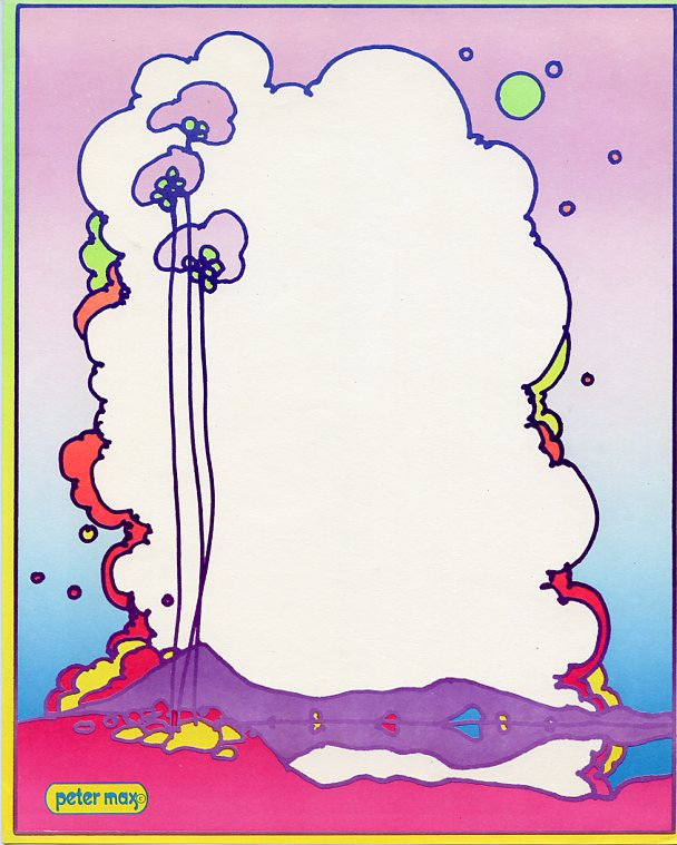 Peter Max Stationary. Peter MAX.