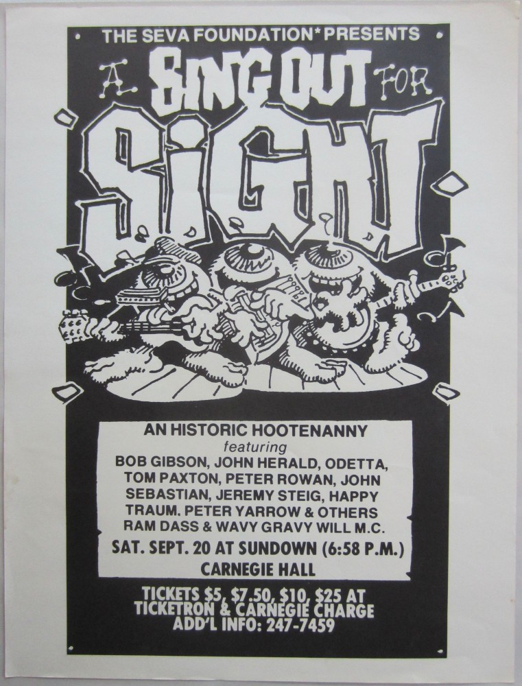 """Poster by Rick Griffin announcing """"A Sing Out for Sight.''. Rick GRIFFIN."""