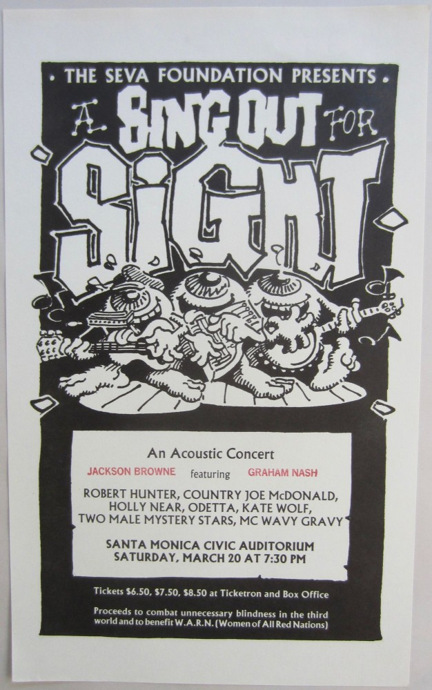 """Handbill by Rick Griffin announcing """"A Sing Out for Sight.''. Rick GRIFFIN."""