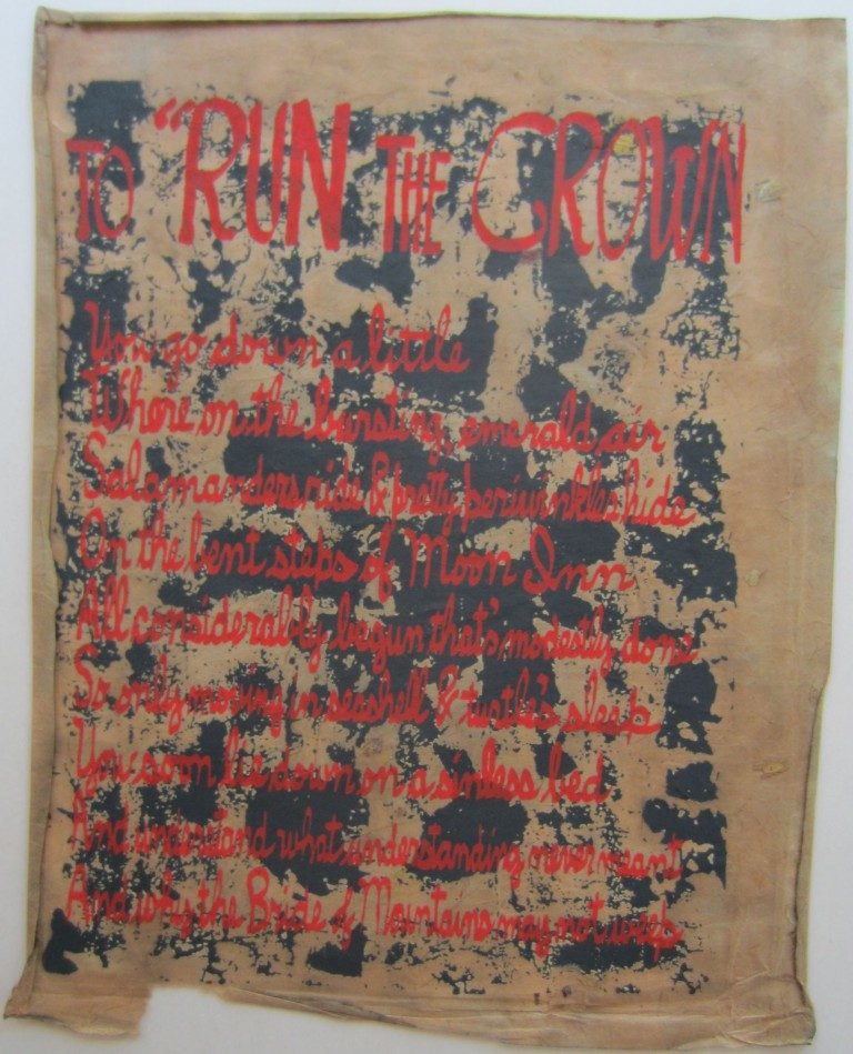 To Run the Crown. Kenneth PATCHEN.