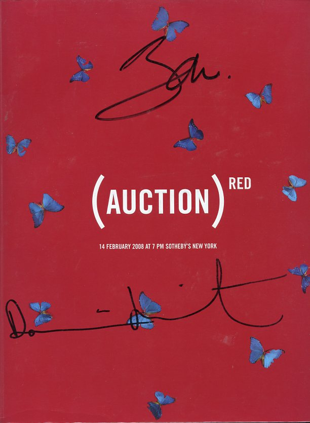 Red Auction. Damien HIRST, BONO.
