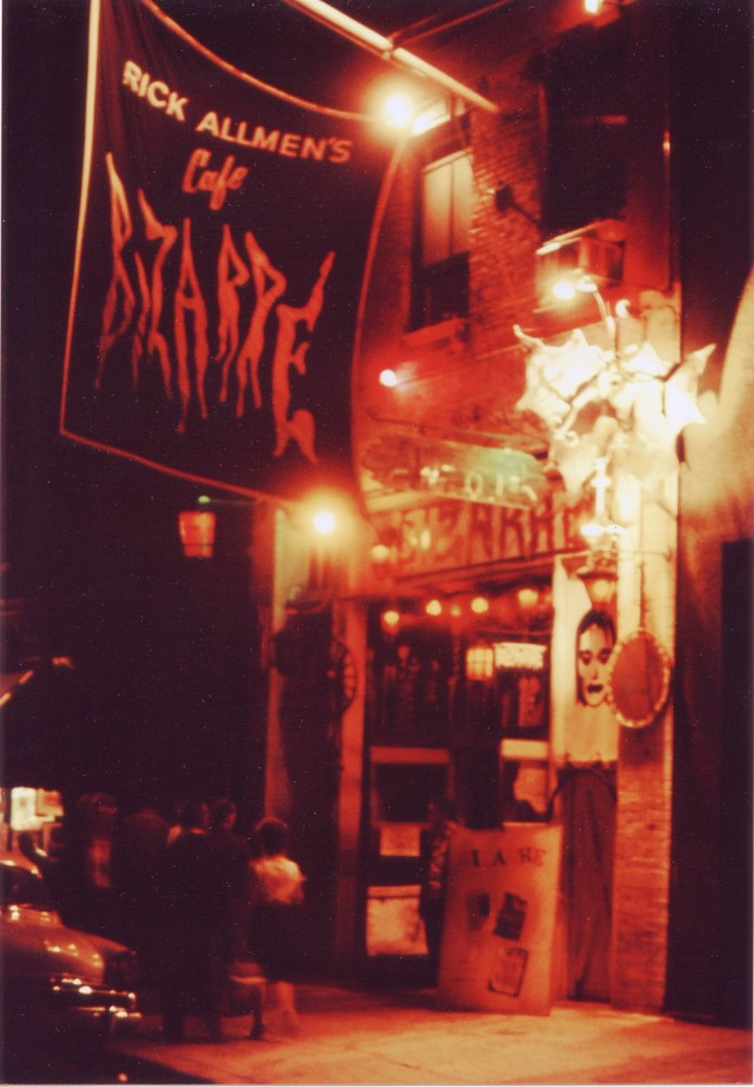 Original color photo (recent print) of the Cafe Bizarre in Greenwich Village, 1960's. Rick ALLMEN.