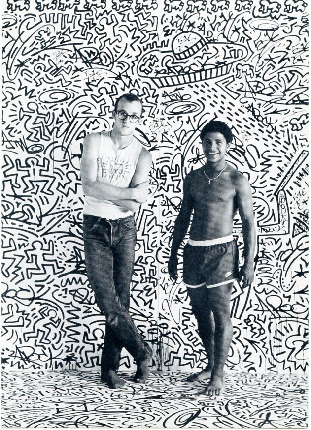 Postcard announcement for Keith Haring's (with LA2) 1982 show at the Tony Shafrazi Gallery. Keith HARING.