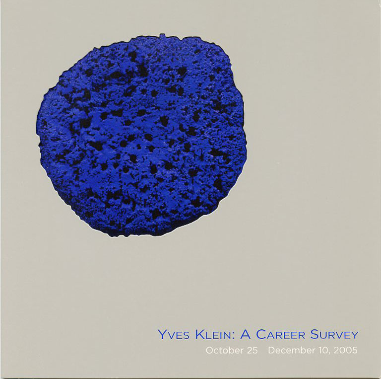 "Folding exhibition invitation for Klein's 2005 ""Yves Klein: A Career Survey"" show at L&M Arts in NYC. Yves KLEIN."