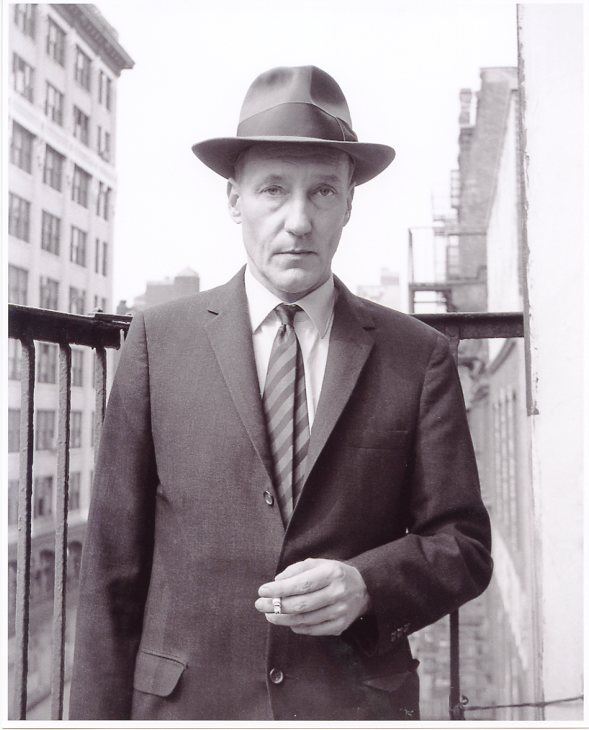 Terrific original b&w photograph of William Burroughs (recent print). William S. BURROUGHS.