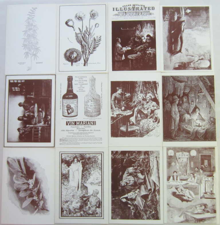 Complete set of Ludlow Library drug-themed notecards. Fitz Hugh LUDLOW.