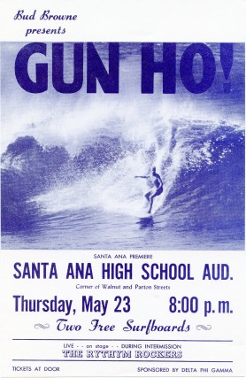 Flyer for Bud Brown's 1963 film, Gung Ho. Bud BROWNE