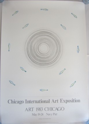 Offset color poster announcing the 1983 Chicago International Art Exposition. Edward RUSCHA, Ed