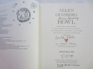 Howl: Original Draft Facsimile, Transcript & Variant Versions. Allen GINSBERG, Barry MILES.