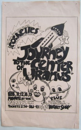 Poster for The Cockettes performance of ''Journey to the Center of Uranus.''. John FLOWERS,...