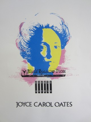 Silk-screen poster printing a lovely multi-color portrait of Joyce Carol Oates by Erik Zeefdruk. Joyce Carol OATES, Erik ZEEFDRUK.