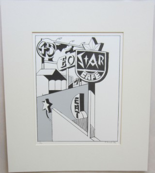 Original silk-screen print ''Star Cafe.''. Ken PRICE.