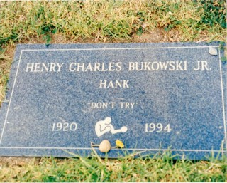 Original color photograph of Bukowski's gravestone taken by his wife Linda. Charles BUKOWSKI