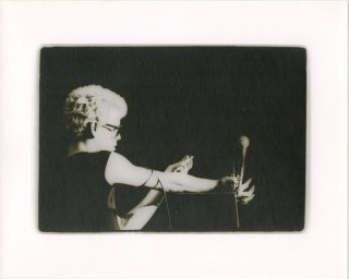 Original vintage print photograph of Lou Reed shooting up on stage at Winterland, 1974. Lou REED,...