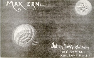 Exhibition announcement card for Max Ernst's 1944 show at the Julien Levy Gallery. Max ERNST