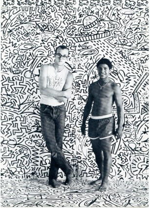 Postcard invitation for Keith Haring's (with LA2) 1982 show at the Tony Shafrazi Gallery. Keith...