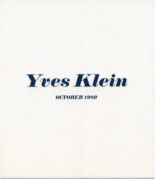 """Invitation card for Klein's 1989 """"Sponge Reliefs"""" show at the Gagosian Gallery in NYC."""