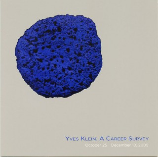 "Folding exhibition invitation for Klein's 2005 ""Yves Klein: A Career Survey"" show at L&M Arts in..."