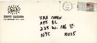 Autograph Letter Signed to poet/photographer Ira Cohen.