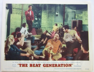 Color lobby card from the 1959 Beat exploitation film, The Beat Generation starring Maime Van...