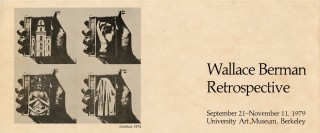 Flyer for the Wallace Berman Retrospective at the University Art Museum in Berkeley, 1979....