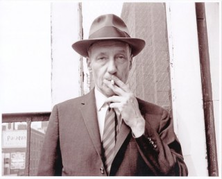 Fabulous original b&w photograph of William Burroughs (recent print). William S. BURROUGHS