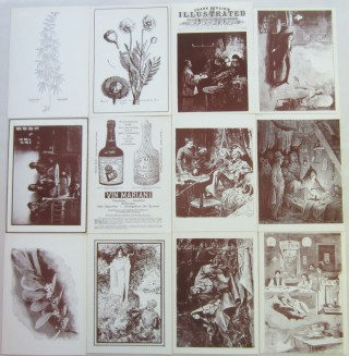 Complete set of Ludlow Library drug-themed notecards. Fitz Hugh LUDLOW